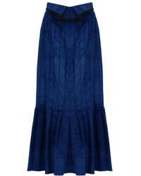Ellery - Rational Skirt Velvet Cord Blue - Lyst