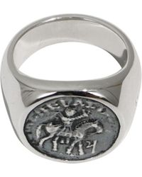 Tom Wood - Alexander The Great Coin Ring Silver - Lyst