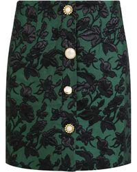 Mother Of Pearl - Molly Flower Print Mini Skirt Green - Lyst