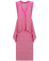 Fendi - Prince Of Wales Check Print Dress Beige/pink - Lyst