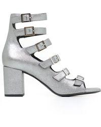 Saint Laurent - Babies Cracked Suede Court Shoes - Lyst