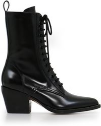 Chloé - Rylee Ankle Boot Black - Lyst