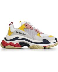 Balenciaga - Triple S Logo-embroidered Leather, Nubuck And Mesh Sneakers - Lyst