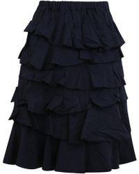 Comme des Garçons - Tiered Ruffle Skirt Navy - Lyst