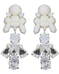EK Thongprasert | Silicone Drop Earrings White/white Crystals | Lyst