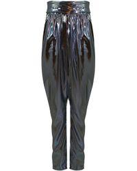 Isabel Marant - Kariam Draped Pant Metallic Blue - Lyst