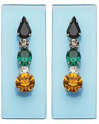 Sylvio Giardina - Perspex Rectangular Stud Earrings Light Grey - Lyst