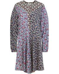 8a6319866ea0 Isabel Marant - Etoile L s Lissande Patchwork Smock Dress Pink blue - Lyst