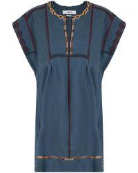Isabel Marant   Etoile Belissa Embroidered Dress Blue   Lyst