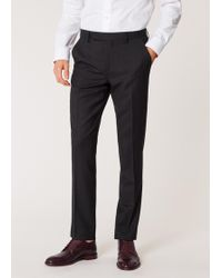 Paul Smith - Slim-fit Charcoal Grey Wool 'a Suit To Travel In' Trousers - Lyst