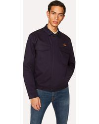 Paul Smith   Men's Navy Stretch-Cotton Patch-Pocket Jacket With 'Octopus' Embroidery   Lyst