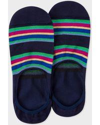 Paul Smith - Navy Colour-Block Stripe Loafer Socks - Lyst
