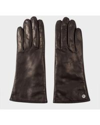 Paul Smith - Women's Black Lamb Leather Gloves - Lyst