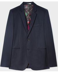 Paul Smith - Slim-Fit Navy Cotton-Linen Buggy Lined Blazer - Lyst