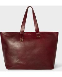 Paul Smith - Burgundy Leather Holdall - Lyst