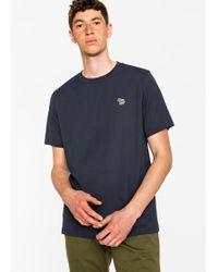 Paul Smith - Navy Organic-Cotton Zebra Logo T-Shirt - Lyst