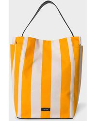 Paul Smith - R.E.M. + Yellow Canvas Tote Bag - Lyst