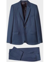 Paul Smith - The Soho - Tailored-Fit Dark Blue Wool Suit - Lyst