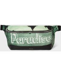 Paul Smith - Green 'paradise' Print Canvas Bum Bag - Lyst