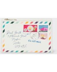 Paul Smith - Off-White 'Envelope' Leather Medium Purse - Lyst