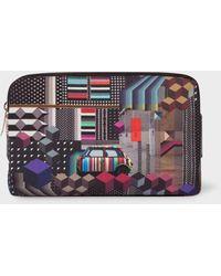 Paul Smith - 'Geometric Mini' Print Canvas Wash Bag - Lyst