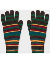 Paul Smith - Signature Stripe Wool-cashmere Gloves - Lyst