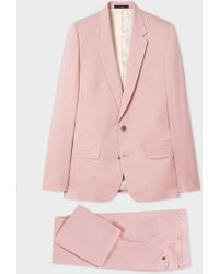 Paul Smith - The Soho - Tailored-Fit Light Pink Stretch-Cotton Twill Suit - Lyst