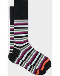 Paul Smith - Black Jito Stripe Socks - Lyst