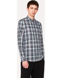 Paul Smith - Tailored-Fit Green Check Shirt With Contrasting Back - Lyst