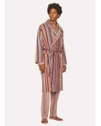 Paul Smith - Signature Stripe Towelling Dressing Gown - Lyst