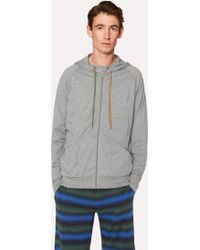 Paul Smith - Grey Jersey Cotton Lounge Hoodie - Lyst
