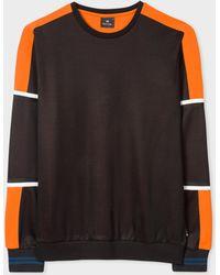 Paul Smith - Black Colour-Block Cotton-Blend Sweatshirt - Lyst