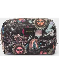 Paul Smith - 'Psychedelic Sun' Print Canvas Wash Bag - Lyst