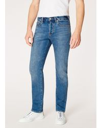 Paul Smith - Standard-Fit Antique-Wash 12.5oz 'Rigid Western Twill' Denim Jeans - Lyst