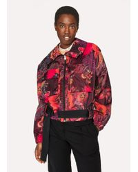 Paul Smith - 'Ocean' Print Micro-Ripstop Bomber Jacket - Lyst