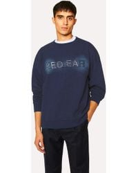 Paul Smith - Sweatshirt Homme Bleu Marine Broderie 'Red Ear' - Lyst