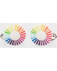 Paul Smith - Gradient Stripe Edge Circular Cufflinks - Lyst