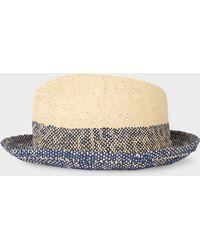 9f8cc3a6bba Lyst - Paul Smith Navy Wool-felt Fedora Hat in Blue for Men