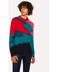 Paul Smith - Multi-Coloured Camouflage Mohair-Blend Jumper - Lyst
