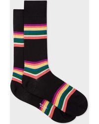Paul Smith - Black Colour-Block Stripe Socks - Lyst