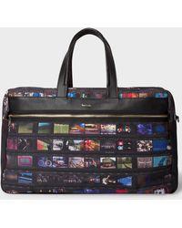 Paul Smith - 'mini Film' Print Canvas Weekend Bag - Lyst
