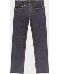Paul Smith - Men's Standard-fit 13oz 'unlucky Red Selvedge' Raw Denim Jeans - Lyst