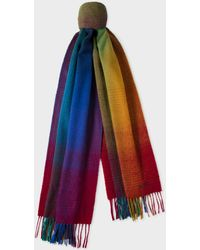 Paul Smith - Multi-Coloured Gradient Lambswool Scarf - Lyst