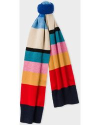 Paul Smith - Vintage Stripe Wool Knit Scarf - Lyst