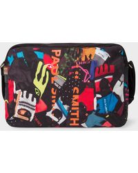 Paul Smith - 'Cycle Gloves' Print Canvas Messenger Bag - Lyst