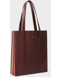 Paul Smith - Women's Burgundy 'concertina' Tote Bag - Lyst