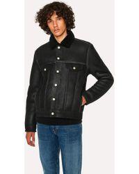 Paul Smith - Black Shearling Jacket - Lyst