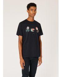 Paul Smith - Dark Navy 'Hermit Crab' Print Organic-Cotton T-Shirt - Lyst