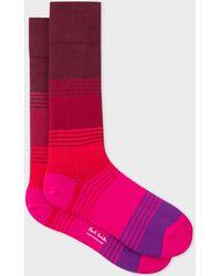 Paul Smith - Pink Gradient Stripe Socks - Lyst
