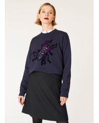 Paul Smith - Navy Sequin 'Dreamer Beetle' Cotton Sweatshirt - Lyst